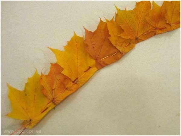 Корона из листьев своими руками фото