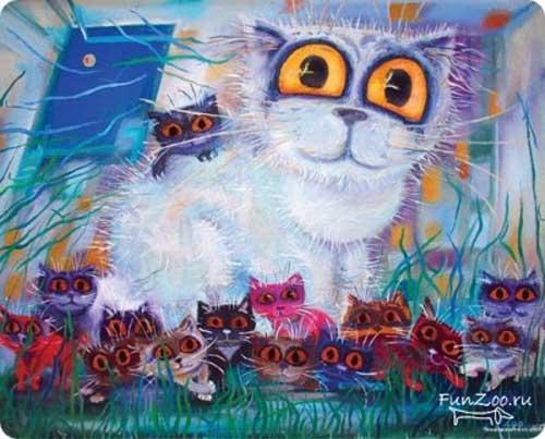 Белый котик бориса касьянова