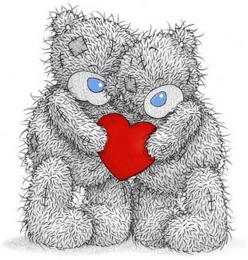 Тэдди мишки тэдди с красным сердечком