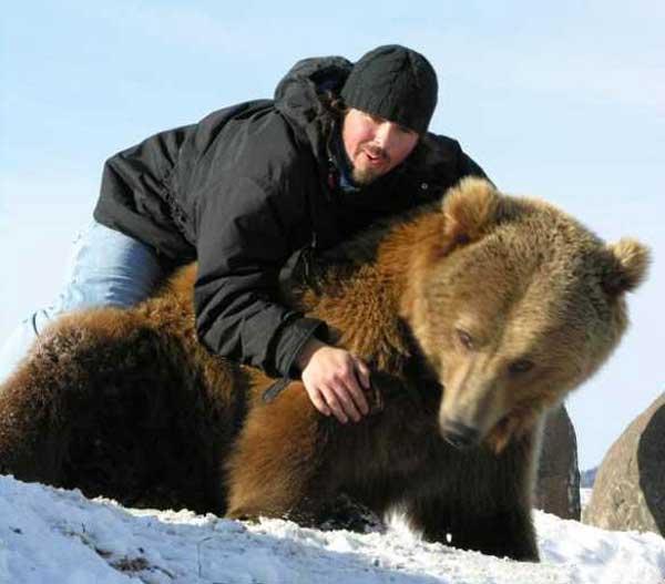 Обои на рабочий стол с медведем